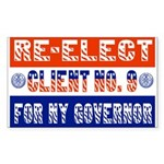 Re-Elect Client No. 9 Rectangle Sticker