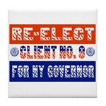 Re-Elect Client No. 9 Tile Coaster