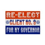 Re-Elect Client No. 9 Rectangle Magnet (100 pack)