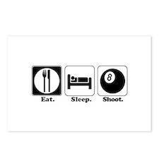 Eat. Sleep. Shoot. (Pool) Postcards (Package of 8)