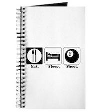 Eat. Sleep. Shoot. (Pool) Journal
