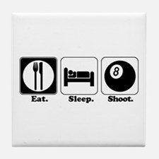Eat. Sleep. Shoot. (Pool) Tile Coaster