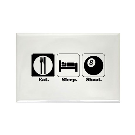 Eat. Sleep. Shoot. (Pool) Rectangle Magnet (100 pa