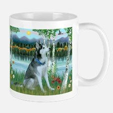 Alaskan Husky in the Birches Mug