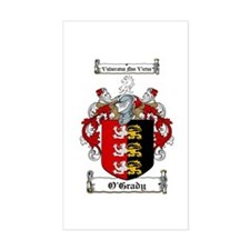 O'Grady Family Crest Rectangle Decal