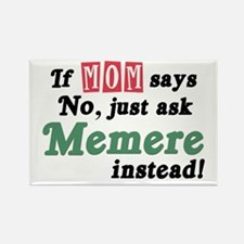 Just Ask Memere Rectangle Magnet (10 pack)