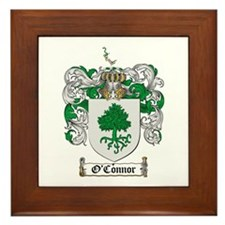 O'Connor Family Crest Framed Tile