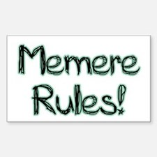 Memere Rules! Rectangle Decal