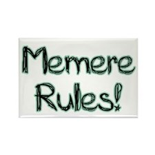 Memere Rules! Rectangle Magnet (100 pack)