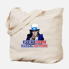 EveryJuan Illegal Go Home Tote Bag