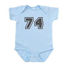 Number 74 Infant Bodysuit