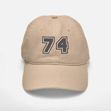 Number 74 Baseball Baseball Cap