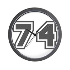 Number 74 Wall Clock