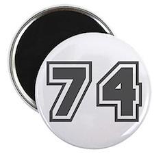 Number 74 Magnet