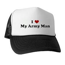 I Love My Army Man Trucker Hat
