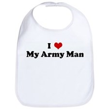 I Love My Army Man Bib