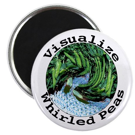 """Visualize Whirled Peas 2.25"""" Magnet (100 pack)"""