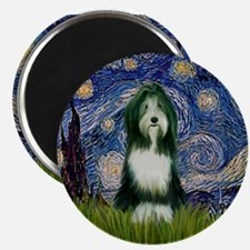 Starry Night & Beardie Magnet