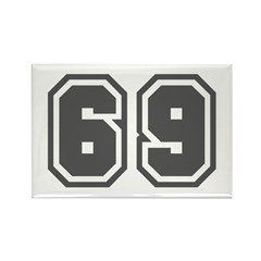 Number 69 Rectangle Magnet
