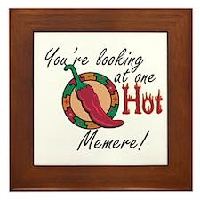 Looking at One Hot Memere Framed Tile