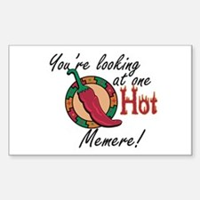 Looking at One Hot Memere Rectangle Decal