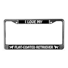 I Love My Flat-Coated Retriever License Frame