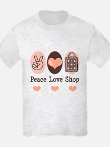 Peace Love Shop Shopping T-Shirt