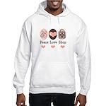 Peace Love Shop Shopping Hooded Sweatshirt