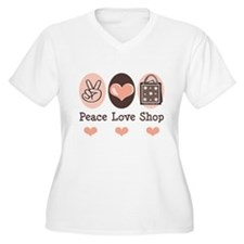 Peace Love Shop Shopping T-Shirt