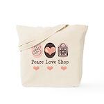 Peace Love Shop Shopping Tote Bag