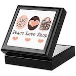 Peace Love Shop Shopping Keepsake Box