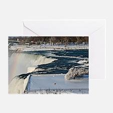 Winter Rainbow Over Niagara Falls Greeting Card