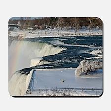Winter Rainbow Over Niagara Falls Mousepad