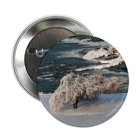 "Ice Covered Winter Tree 2.25"" Button (100 pack)"