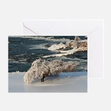 Ice Covered Winter Tree Greeting Card