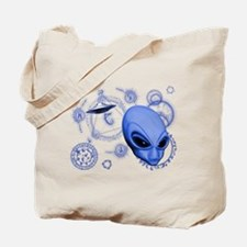 A.L.I.E.N. Language Blue Tote Bag