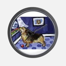 NORFOLK TERRIER ART! Wall Clock