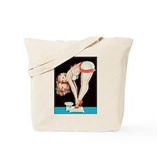 Weighing Girl Tote Bag