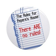 No Rules at Pepere's House Ornament (Round)