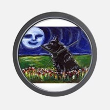SCHIPPERKE summer moon Wall Clock