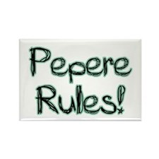 Pepere Rules! Rectangle Magnet (100 pack)
