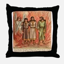Fire protection from God in Daniel Throw Pillow