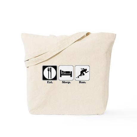 Eat. Sleep. Run. Tote Bag