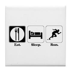 Eat. Sleep. Run. Tile Coaster