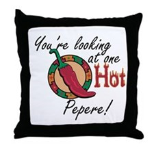 One Hot Pepere Throw Pillow