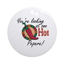 One Hot Pepere Ornament (Round)