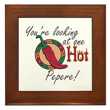 One Hot Pepere Framed Tile