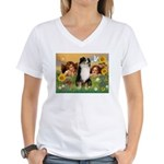 Cherubs / Aussie (tri) Women's V-Neck T-Shirt