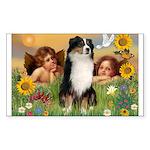 Cherubs / Aussie (tri) Rectangle Sticker