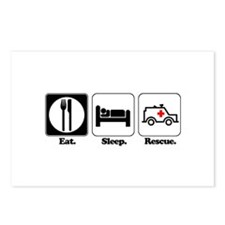 Eat. Sleep. Rescue. (EMT/Paramedic) Postcards (Pac